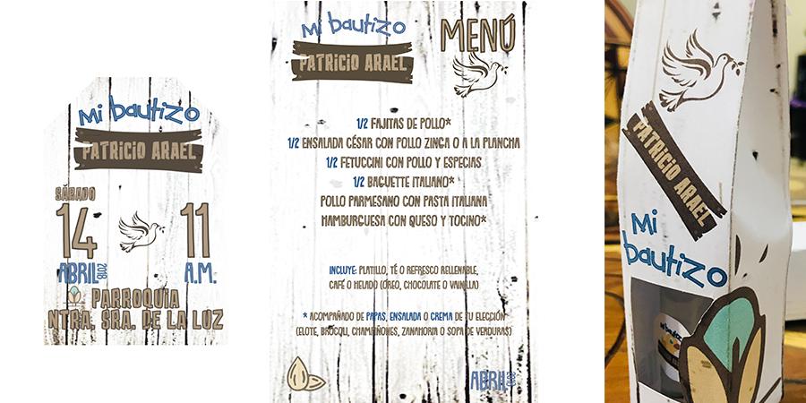 Personalización de Evento: Bautizo Patricio<br /> Tema: Campirano