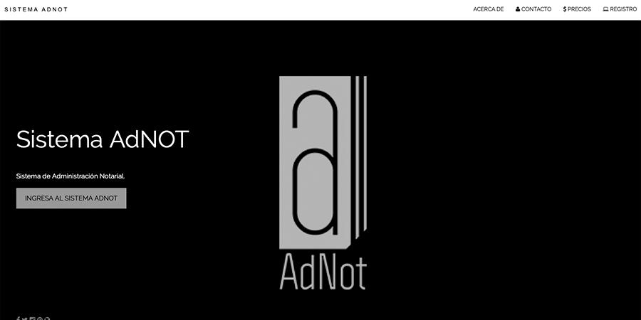 Diseño y Desarrollo del Sistema Web: AdNOT, auxiliar del Notario Público.