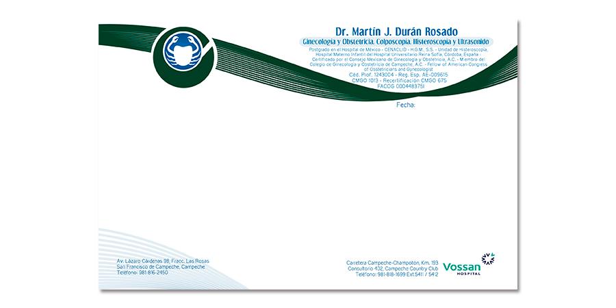 Recetario, Reporte, Tarjeta de presentación