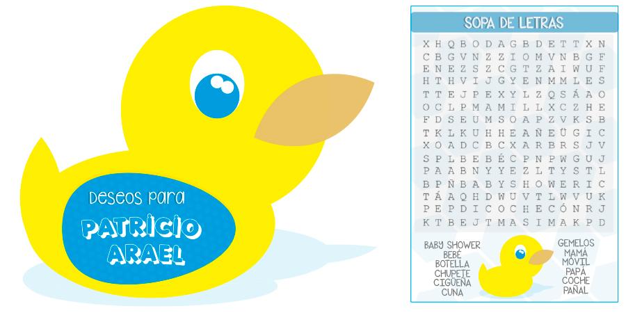 Personalización de Evento: Baby Shower Patricio<br /> Tema: Patos